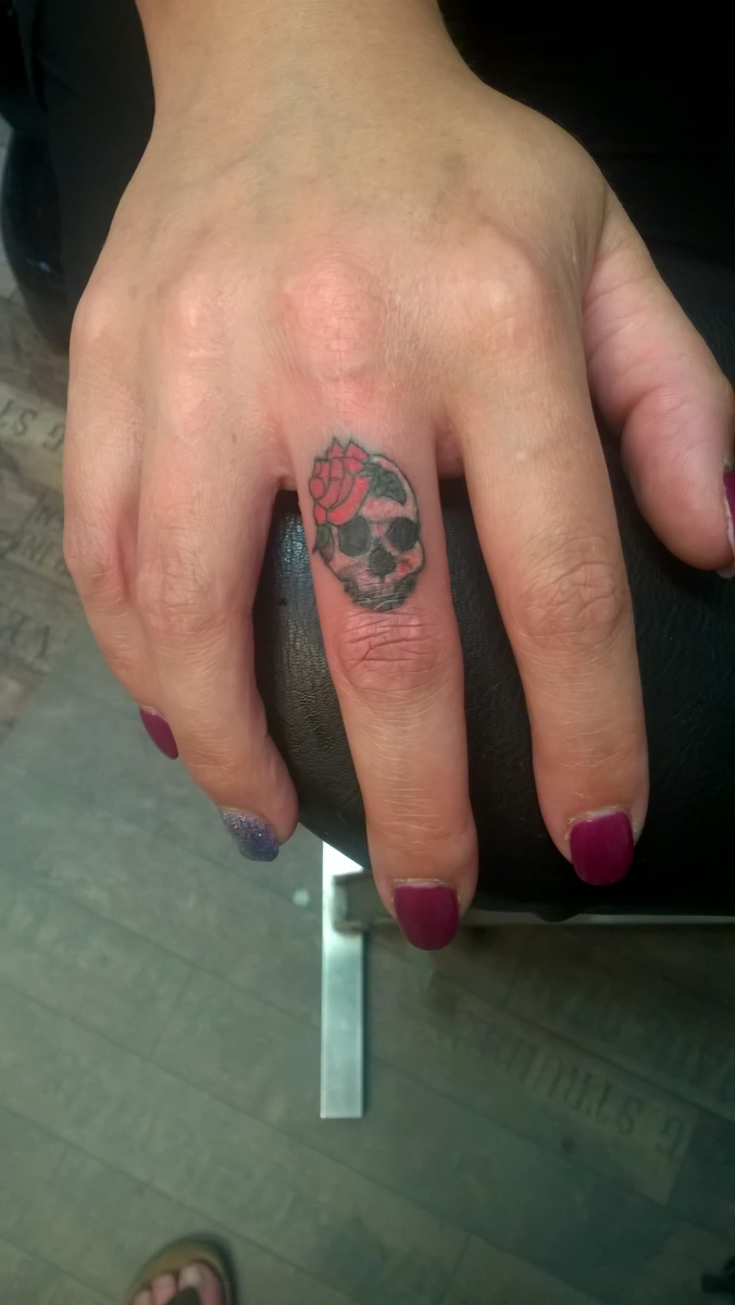 Skull on Finger